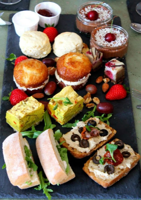 Wellbeing Lounge Vegan Cafe Keighley - Afternoon Tea menu